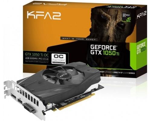 Видеокарта 4096Mb PCI-E KFA2 GeForce GTX1050Ti OC (25053) 128bit PCI-E 3.0 GDDR5 1xDVI-D 1xHDMI 1xDP RTL