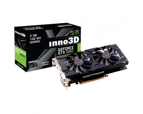 Видеокарта 3072Mb PCI-E Inno3D GeForce GTX1060 N106F-2SDN-L5GS 192bit PCI-E 3.0 GDDR5 2xDVI-D 1xHDMI 1xDP RTL