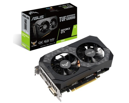 Видеокарта 6144Mb PCI-E Asus GeForce GTX 1660 TUF-GTX1660-6G-GAMING 192bit PCI-E 3.0 GDDR5 1xDVI 1xHDMI 1xDP RTL
