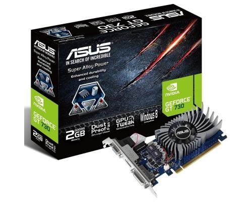 Видеокарта 2048Mb PCI-E Asus GeForce GT730 GT730-2GD5-BRK 128bit PCI-E 3.0 GDDR5 1xD-Sub 1xDVI 1xHDMI RTL