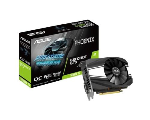Видеокарта 6144Mb PCI-E Asus GeForce GTX 1660Ti PH-GTX1660TI-O6G 192bit PCI-E 3.0 GDDR6 1xDVI 2xHDMI 1xDP RTL