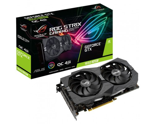 Видеокарта 4096Mb PCI-E Asus GeForce GTX 1650SUPER ROG-STRIX-GTX1650S-O4G-GAMING 128bit PCI-E 3.0 GDDR5 2xHDMI 2xDP RTL