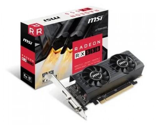 Видеокарта 4096Mb PCI-E MSI Radeon RX 550 4GT LP OC 128bit GDDR5 1xDVI 1xHDMI RTL
