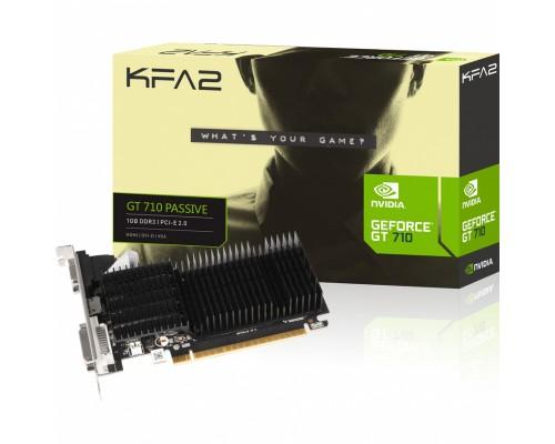 Видеокарта 1024Mb PCI-E KFA2 GeForce GT710 1G D3H (71GGF4DC00WK) 64bit PCI-E 2.0 GDDR3 1xD-Sub 1xDVI 1xHDMI Silent RTL