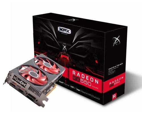 Видеокарта 4096Mb PCI-E XFX Radeon RX 550 RX-550P4PFG5 128bit GDDR5 1xDP 1xDVI 1xHDMI RTL