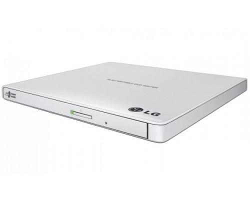 Дисковод DVD-RW 8xW/8xRW/8xR/24xW/24xRW/24xR LG GP60NW60, Ultra slim , белый (USB2.0)