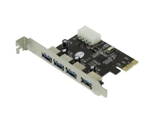 Контроллер PCI-Ex1 Orient VA-3U4PE  USB3.0 (4 внешн.)