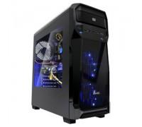 Корпус GMC B7 Shiny ATX, fan case 3х120mm (установлено: 2х120mm с LED подсветкой), 2хUSB2.0, 1хUSB3.0, Audio/, черный, без БП