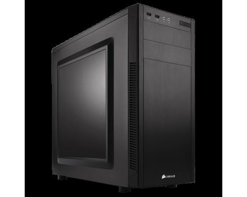 Корпус Corsair Graphite Series 100R CC-9011075-WW Midi-Tower ATX, fan case 2x120mm, 2x140mm (установлено 1x120mm), cable managment, 2xUSB3.0,  Audio, черный (без БП)