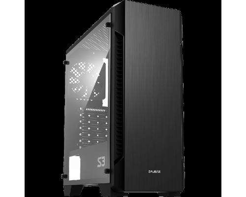 Корпус Zalman S3, ATX, fan case 6x120mm (установлен 1), 2хUSB2.0, 1хUSB3.0, Audio I/O, черн., без БП