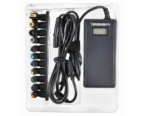 Блок питания для ноутбука Ippon 65W D65U (универсальный 15-19.5V, USB, LCD-дисплей, 8 переходников)