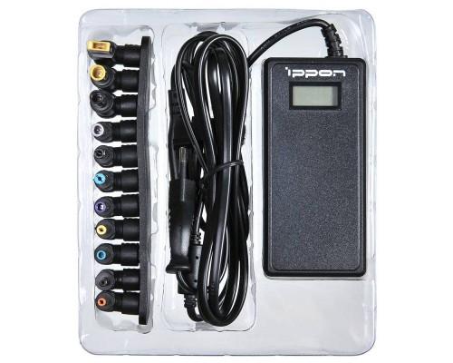 Блок питания для ноутбука Ippon 90W D90U (универсальный 15-19.5v, USB, LCD-дисплей, 8 перех.)