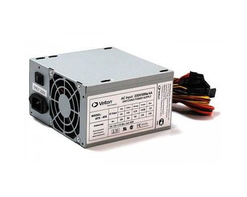 Блок питания Velton 400W ATX  (20/24+4pin, вентилятор d80мм, 3HDD, 3SATA)