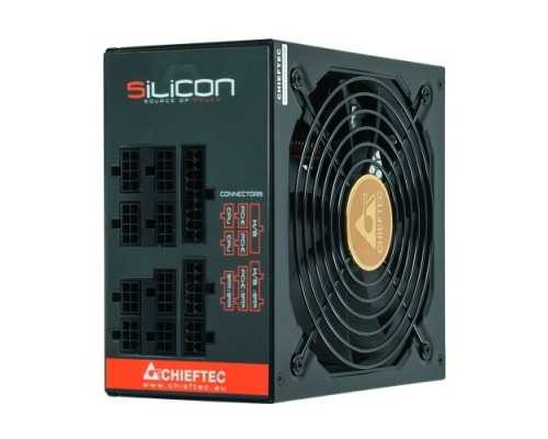 Блок питания Chieftec 750W SILICON SLC-750C ATX12V2.3 (APFC, 80 PLUS Bronze, 20/24+4/8+6/8pin, вентилятор d140мм, модульный) RTL