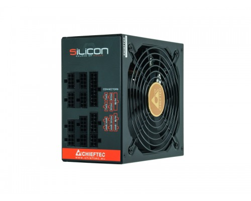 Блок питания Chieftec 650W SILICON SLC-650C ATX12V2.3 (APFC, 80 PLUS Bronze, 20/24+4/8+6/8pin, вентилятор d140мм, модульный) RTL