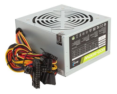 Блок питания AeroCool 500W ECO-500 4710700957882 (ATX12V 2.3 20/24+4/8+6pin, вентилятор d120мм)