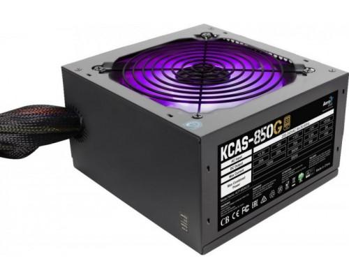 Блок питания AeroCool 850W KCAS-850G ATX12V V2.4 (APFC, 80Plus Gold, 20/24+4/8+4x6/8pin, вентилятор d120мм c RGB подсветкой)