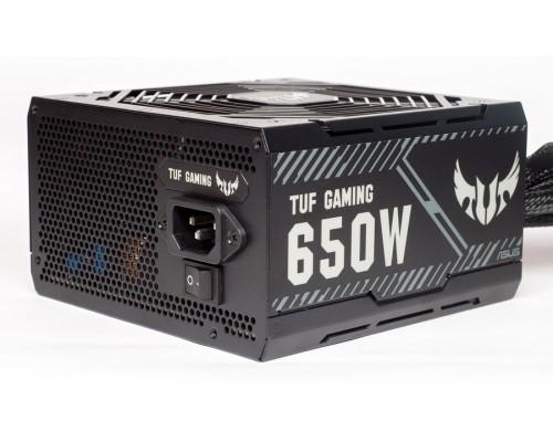 Блок питания Asus 650W TUF-Gaming-650B ATX12V V2.31 (APFC, 85Plus BRONZE, 24+4/8+4x6/8pin, вентилятор d135мм) RTL