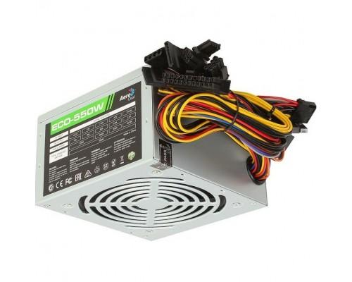Блок питания AeroCool 550W ECO-550 4710700957899 (ATX12V 2.3 20/24+4/8+6pin, вентилятор d120мм)