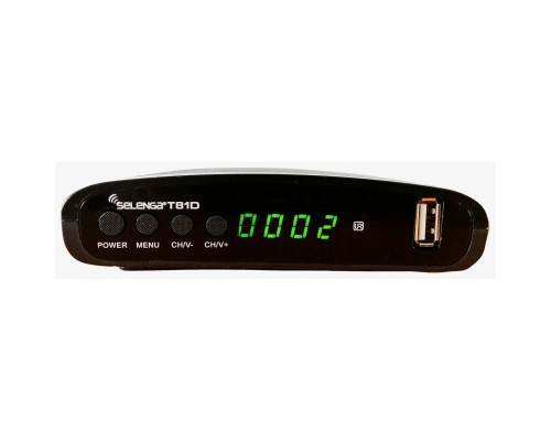 Ресивер DVB-T2/DVB-C Selenga T81D приемник цифрового ТВ, Wi-Fi, IPTV, HDMI,2x USB 2.0 (просмотр YouTube через Wi-Fi адаптер)