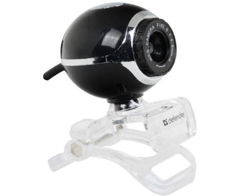 Web камера Defender C-090 0.3Mpx ручная фокусировка видео 640x480 USB черный 63090