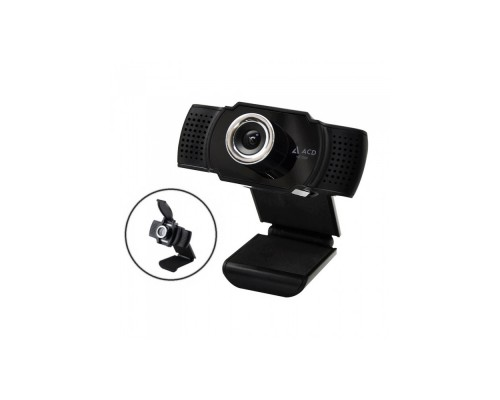 Web камера  ACD-Vision UC400 CMOS 1.3МПикс, 1280x720p,30к/с, микрофон, USB 2.0, шторка объектива, универс. крепление, черный