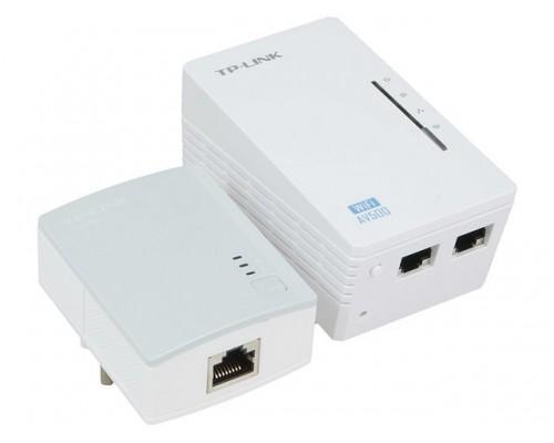 Сетевой адаптер TP-LINK TL-WPA4220 KIT Powerline ( комплект из двух адаптеров: AV500 500 Мбит/с и AV600 2UTP 10/100Mbps, Wi-Fi 802.11n 300 Мбит/с )