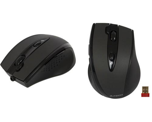 Мышь A4 G10-770L-2 оптич., беспр., 6кн.+скр., серо-черный (USB)