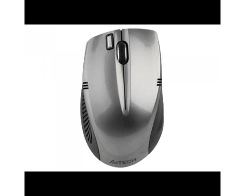 Мышь A4 G7-540-1, USB беспр опт мышь, 2,4ГГц, 15м, индикатор заряда, серая