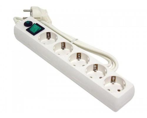 Сетевой фильтр Гарнизон 5 розеток белый EHLW-5 1,4м