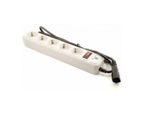 Сетевой фильтр Krauler KR-5-1,5UPS, на 5 розеток, 1.5м, вилка для ИБП, белый