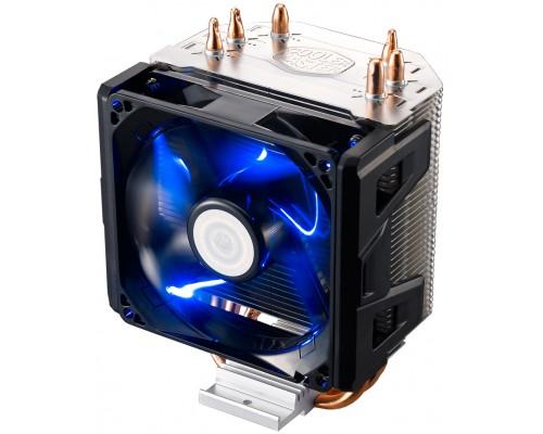 Кулер Cooler Master Hyper 103 RR-H103-22PB-R1 Socket775/115x/1366/2011/AM2/AM3/FM1/FM2, PWM, 800 - 2200 об/мин, 17-30 дБ, вентилятор 92mm, синяя подсветка