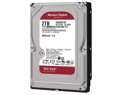 Винчестер 2000Gb SATAIII Western Digital RED WD20EFAX 5400rpm 256Mb, адаптирован для работы в системах NAS