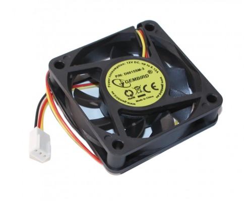 Вентилятор  60x60x15мм Gembird D6015SM-3, 4000rpm, 25dBA  питание 3pin от МВ