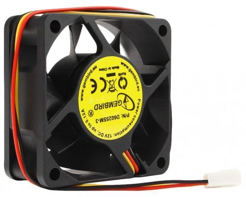 Вентилятор  60x60x15мм Gembird D6025SM-3, 4000rpm, 25dBA  питание 3pin от МВ