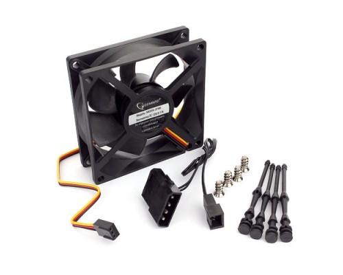 Вентилятор  80x80x25мм Gembird S8025H-3P4M, гидродинамический подшипник, 3pin+Molex, 2000 rpm