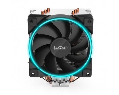 Кулер PCCooler GI-X3B Socket 775, 115X, 1200, AMX, FMX, 120мм, 1000-1800rpm, 4pin PWM, 125W, 3 тепловые трубки, синяя LED подсветка