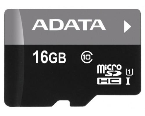 Карта памяти MicroSD 16Gb ADATA AUSDH16GUICL10-R UHS-I U1 class 10, запись/чтение - до 10/50 Мб/сек