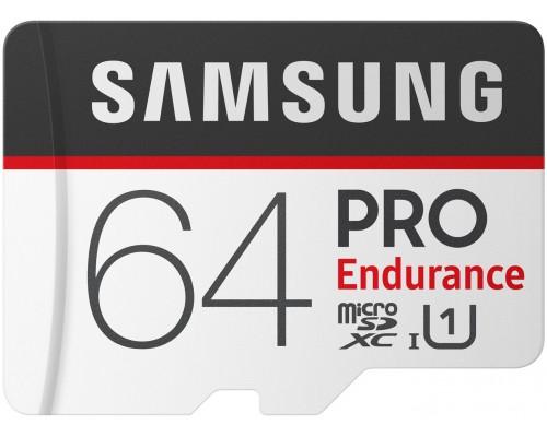 Карта памяти MicroSD 64Gb Samsung PRO Endurance MB-MJ64GA/RU, UHS-I U1 class 10 + адаптер SD запись/чтение - до 30/100 Мб/сек