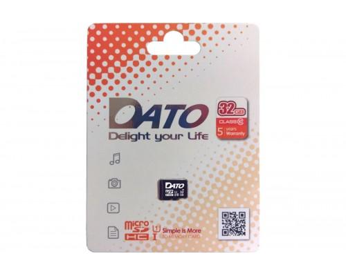Карта памяти MicroSD 32Gb Dato DTTF032GUIC10 UHS-I U1 Class 10 запись/чтение - до 10/40 Мб/сек