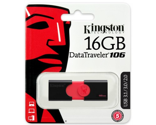 Флеш драйв Kingston 16Gb USB3.0 Data Traveler DT106/16GB черный