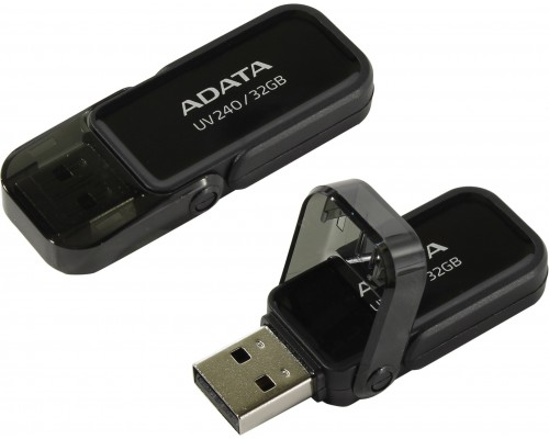 Флеш драйв A-DATA USB 2.0 32Gb UV240 AUV240-32G-RBK черный