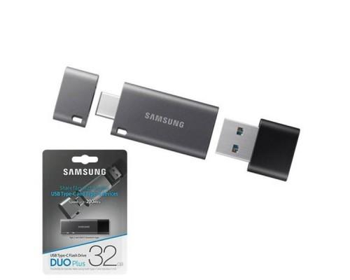 Флеш драйв Samsung 32Gb USB3.2 DUO Plus MUF-32DB/APC OTG USB Type-C/Type A, скорость чтение - до 300MB/s