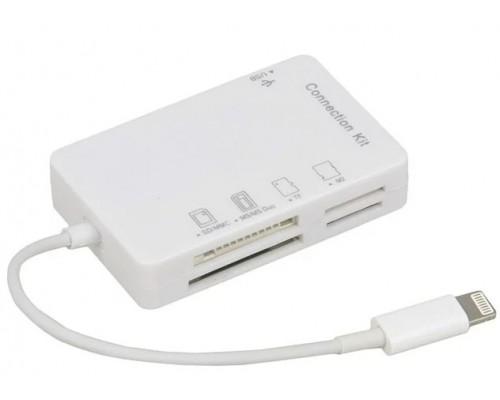 Устройство чтения для устройств Apple R-105A USB/SDXC/microSD/MMC/MS/M2, Lightning, белый
