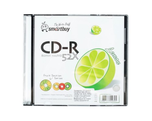 Диск CD-R 700Мб SmartBuy 52x (slim)