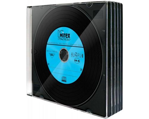 Диск CD-R 700Мб Mirex Маэстро 52х винил, slim