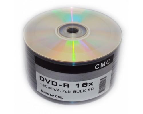 Диск DVD-R 4,7Гб CMC 16x Blank (100шт/уп)