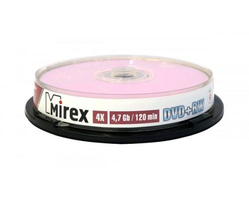 Диск DVD+RW 4,7Гб MIREX 4x (10шт/уп)