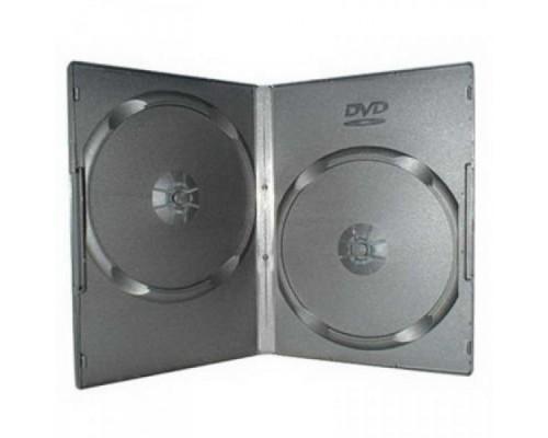 Бокс для  2 DVD, 7мм, слим, пленка, черный