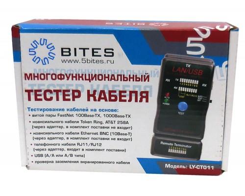 Тестер-LAN 5Bites LY-CT011 для UTP, STP, USB, RJ45, RJ11/12